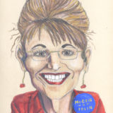 Caricature of Sarah Palin