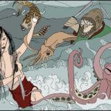 Princess Tamatori's Escape from the Dragon Palace