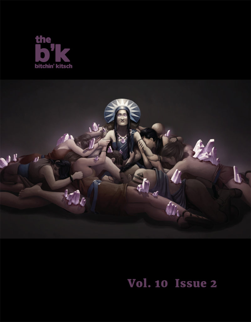 The B'K Volume 10, Issue 2 cover art by Katy L. Wood