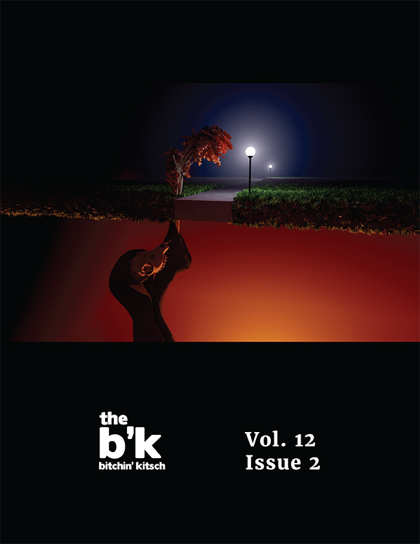 The cover for The B'K Volume 12, Issue 2, featuring artwork by Dana Talbot-Heindl